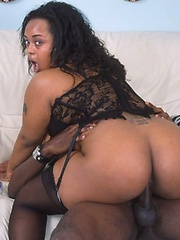 Big titted black girl in stockings